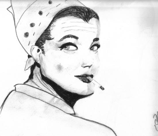 Romy Schneider por Leena